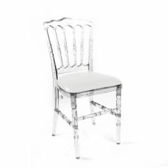 Chaise Napoléon transparente (cristal)