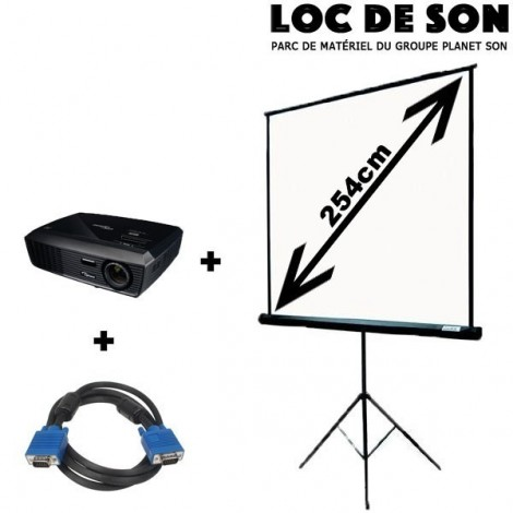 Pack vidéo projecteur + écran de projection